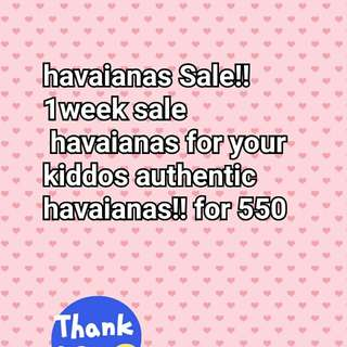Havaianas for kids for sale