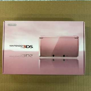 3DS CONSOLE- PINK (JAP)     3DS 主機 (粉紅色)-日版