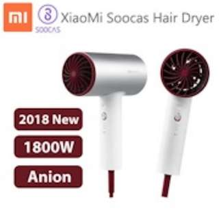 Original Xiaomi Soocas H3 Anion Hair Dryer Aluminum Alloy Body 1800W Dyson