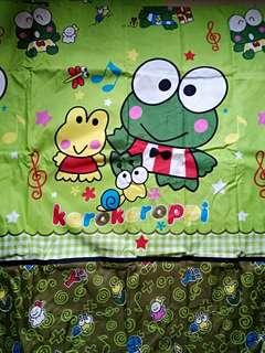 Sprei Singing Keroppi 180x200