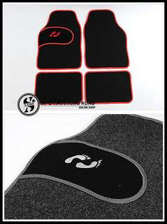 1631340  毯料繡花腳掌腳墊 4片套裝通用款 汽車腳墊 Blanket embroidered foot pad 4 piece set Universal models Car mats