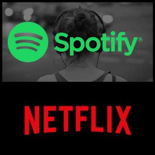 Netflix and Spotify Premium Accounts