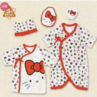 🚚 日本外貿💝Hello Kitty新生兒5件套