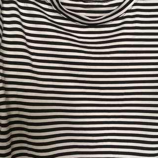 Striped Peplum sleeve top (Bangkok) in Jersey cloth