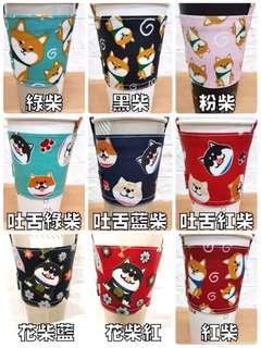台灣純手工製造環保杯套(仲有個放飲管的耳仔)
