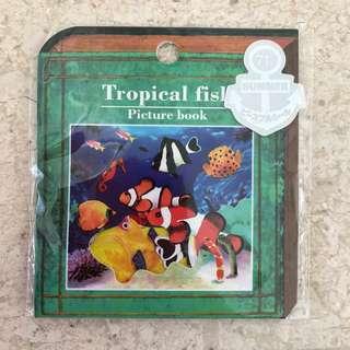 Tropical fish stickers, 70pcs