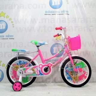 Sepeda lazaro 16inci untuk usia 5-7tahun