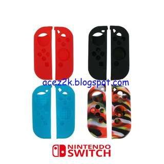 [BN] Nintendo Switch JoyCon HQ Soft Silicone Cover Skin Sleeve (Brand New)