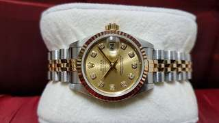 Rolex Ladies Datejust 69173 Diamond Markers half gold