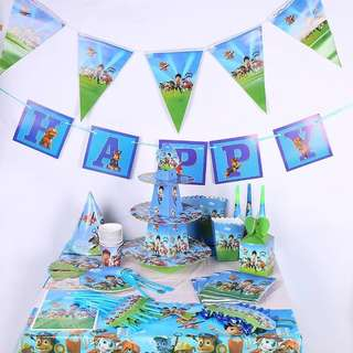 Paw Patrol party supplies - party banners / party deco / birthday banners