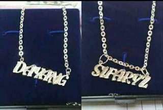 925 silver necklace customized ur own name..