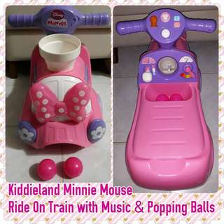 Kiddieland Disney Minnie Mouse Pink Car