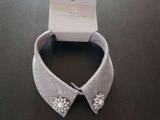 FINAL MARKDOWN! ZARA Accessories Bejewelled Collar Gray