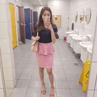 Topshop pink peplum #under90