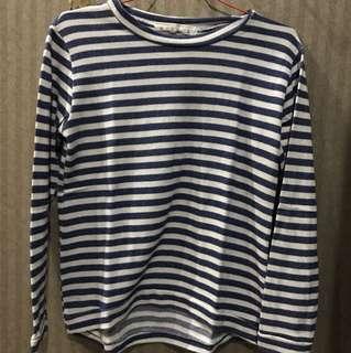 Miss A stripe sweatshirt