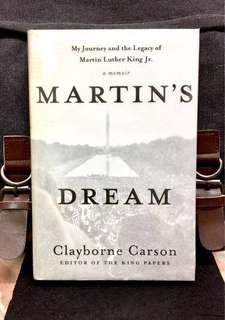 《Preloved Hardcover + A Memoir Of Author & Examine The Influence Of Martin Luther King Ideas》Claybourne Carson - MARTIN'S DREAM : My Journey And The Legacy Of Martin Luther King Jr.