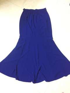 Mermaid Cut Skirt - Royal Blue