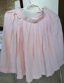 High-waisted skirt in light pink