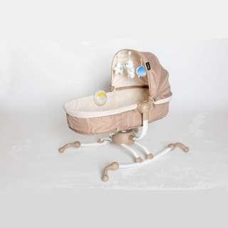 Akarana Baby Koa Swivel Rocker Bassinet with Toys