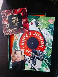 🚚 ✔可議價✔Super Junior 《Replay》八輯 後續 限量版 特別版 藝聲 東海 始源 附小卡+海報