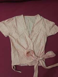Stripes kimono top