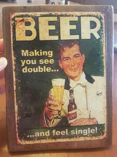 Beer Bar Plaque