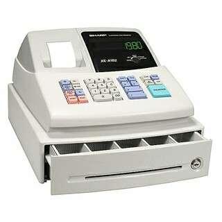 Cash Register / MESIN KASIR SHARP XE-a102 / Xe a102 Barang baru gress belum pernah di pake