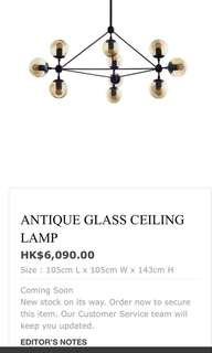 Beautiful ceiling light from Indigo Living. Dimensions mentioned in the picture.