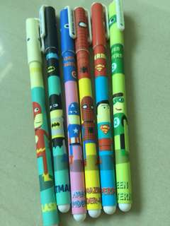 🚚 Superheroes gel pen
