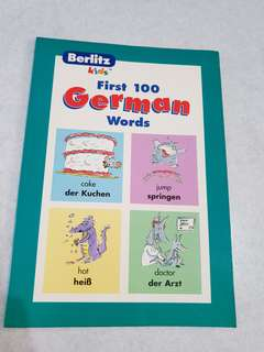 100 German words level 1 book