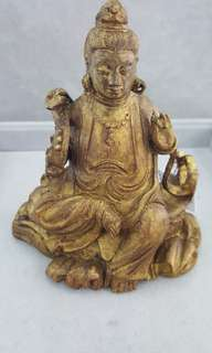 竹雕塗金觀音