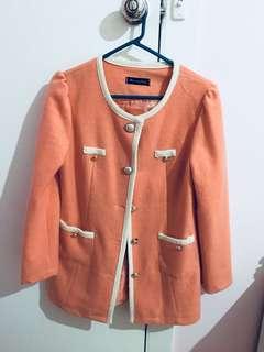 Orange pinky colour coat