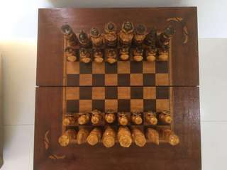 Russian hand crafted chess set - 44 cm square - unused gift 🎁