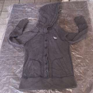 ABERCROMBIE & FITCH gray hooded sweatshirt 3-5yrs old