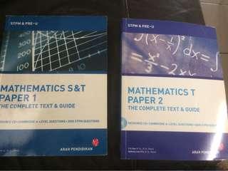 Mathematics P1 and P2 STPM & Pre U
