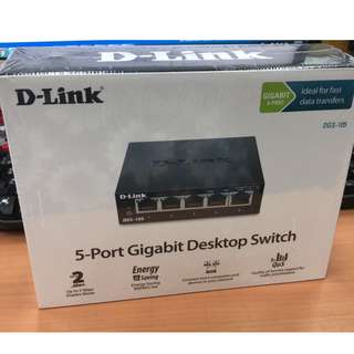 D-LINK 5-Port Gigabit Desktop Switch (Stock Clearance)