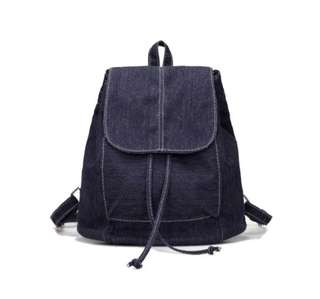 Mini Canvas Drawstring Backpack