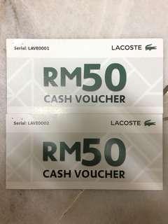 La Coste RM100 voucher
