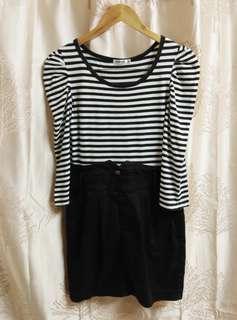 ✔️REPRICED B&W Dress/Denim Skirt