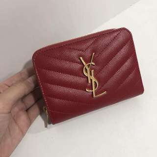 YSL Short Wallet in RED