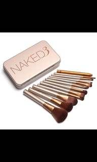 Naked3 12 pcs make up cosmetic tool/brushes