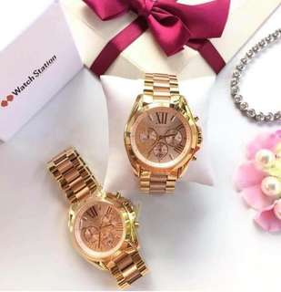 mk watches gold edition
