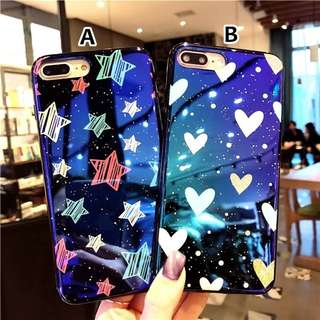 CASE HP IPHONE OPPO MURAH HOLOGRAM STAR & LOVE
