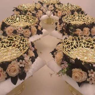 7 pcs Ready-made Dulang Hantaran Gold