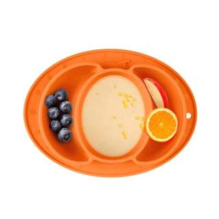 Silicone placemat compartment plate