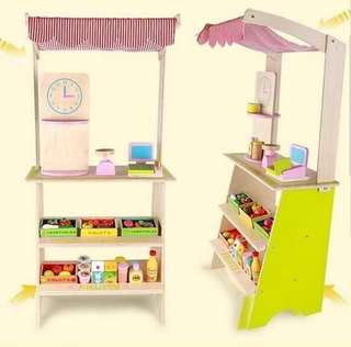 Wooden Grocery Stand