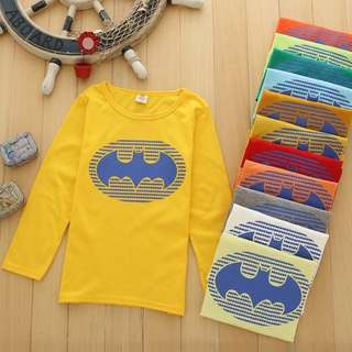 🚚 FREE MAILING FOR THIS ITEM CLEAR STOCK, BATMAN LONG SLEEVE CLEARANCE, good material cotton, toddler kids children boys marvel GOOD MATERIAL