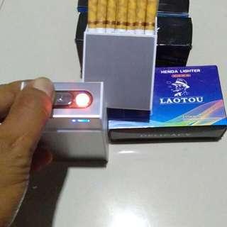 Kotak rokok plus korek elektrik