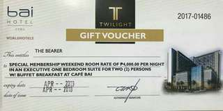 Bai Hotel Voucher - Executive Bedroom Suite with Buffet Bfast for 2