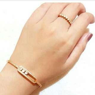 Set gelang cincin